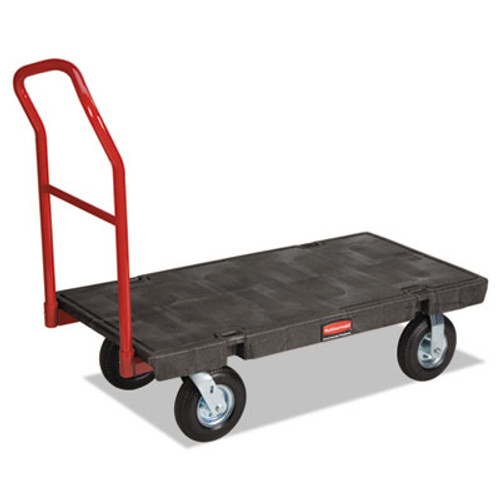 Rubbermaid Commercial Heavy-Duty Platform Truck Cart  1 200 lb Capacity  24 x 48 Platform  Black (RCP 4436-10 BLA)