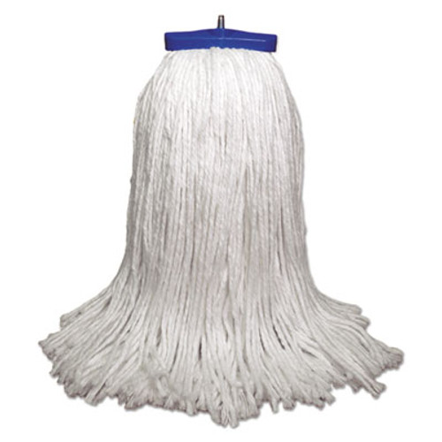 Boardwalk Mop Head  Economical Lie-Flat Head  Rayon Fiber  32-Oz   White  12 Carton (UNS 732R)
