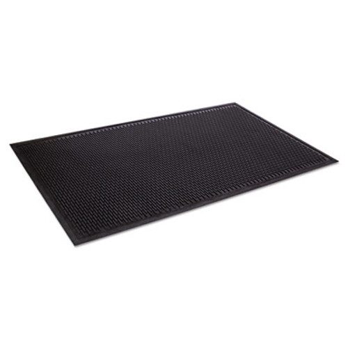 Crown Crown-Tred Indoor Outdoor Scraper Mat  Rubber  43 75 x 66 75  Black (CRO TD46 BLA)
