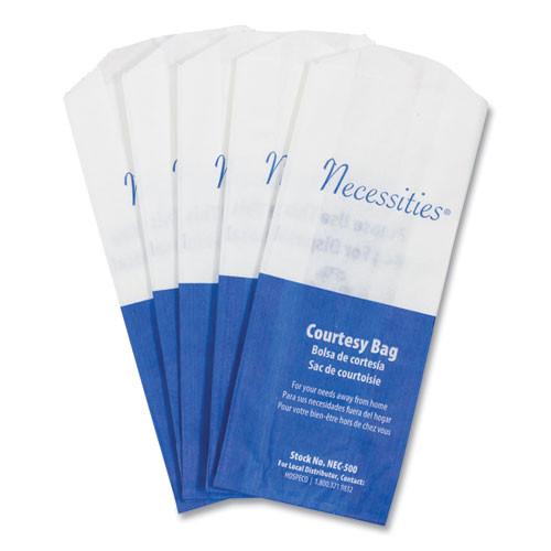 HOSPECO Feminine Hygiene Convenience Disposal Bag  3  x 7 75   White  500 Carton (HOS NEC-500)