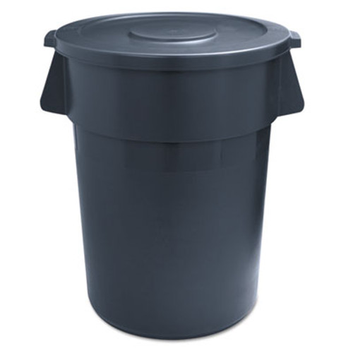 Boardwalk Round Waste Receptacle  LLDPE  32 gal  Gray (UNS 32GLWR GRA)