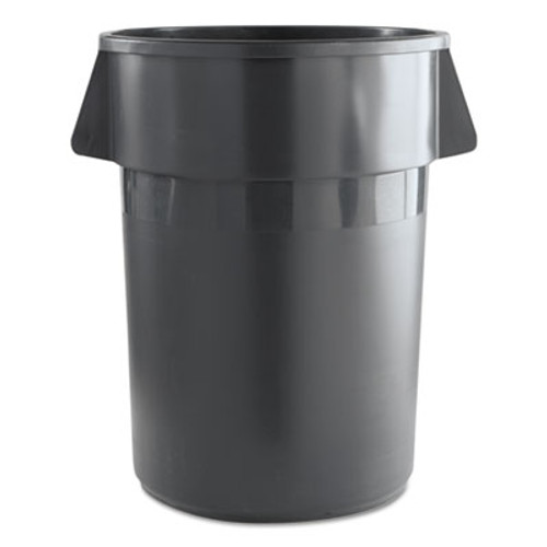 Boardwalk Round Waste Receptacle, Plastic, 44 gal, Gray (UNS 44GLWR GRA)