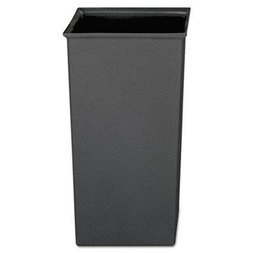 Rubbermaid Commercial Rigid Liner, Square, Plastic, 24 2/3 gal, Gray (RCP 3566 GRA)