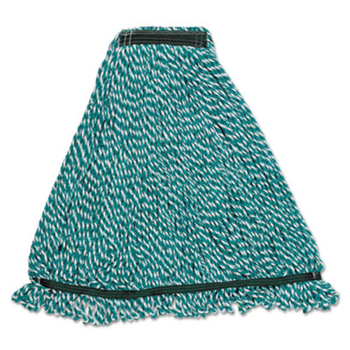 Rubbermaid Commercial Web Foot String Mop Heads  Microfiber  Green  Medium  1-in  Green Headband (RCP A812-06 GRE)