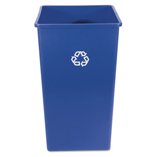 Rubbermaid Commercial Recycling Container, Square, Plastic, 50 gal, Blue (RCP 3959-73 BLU)