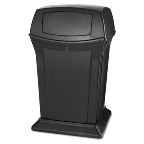 Rubbermaid Commercial Ranger Fire-Safe Container, Square, Structural Foam, 45 gal, Black (RCP 9171-88 BLA)