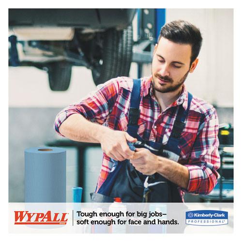 WypAll X60 Cloths  Small Roll  19 3 5 x 13 2 5  Blue  130 RL  6 RL CT (KCC 35431)