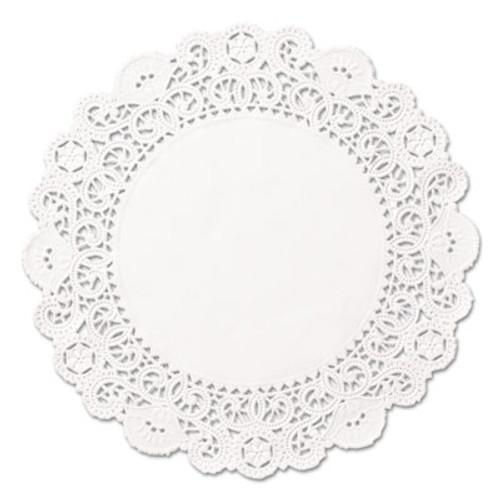 "Hoffmaster Brooklace Lace Doilies, Round, 5"", White, 2000/Carton (HFM LA905-2M)"