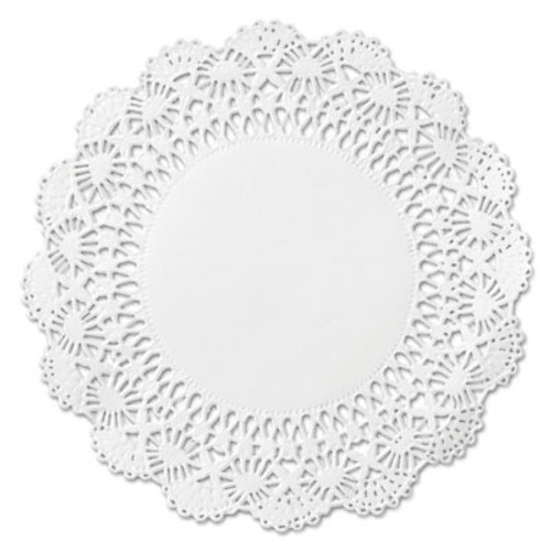 "Hoffmaster Cambridge Lace Doilies, Round, 12"", White, 1000/Carton (HFM 500239)"
