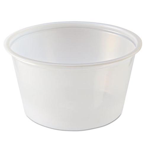 Fabri-Kal Portion Cups  4oz  Clear  125 Sleeve  20 Sleeves Carton (FAB PC400)