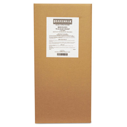 Boardwalk Blended Wax-Based Sweeping Compound  Red  Grit-Free  50lbs  Box (BWK W3COHO)