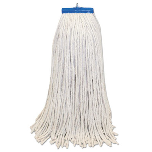 Boardwalk Mop Head  Lie-Flat Head  Cotton Fiber  24oz   White  12 Carton (BWK CM22024)