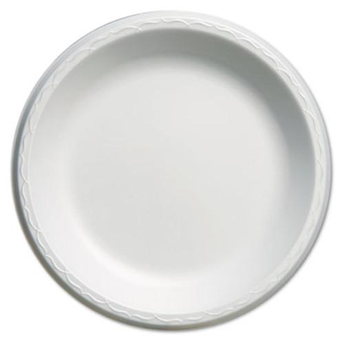 Genpak Elite Laminated Foam Plates  10 1 4  Dia  White  Round  125 Pack  4 Pack Carton (GNP LAM10)