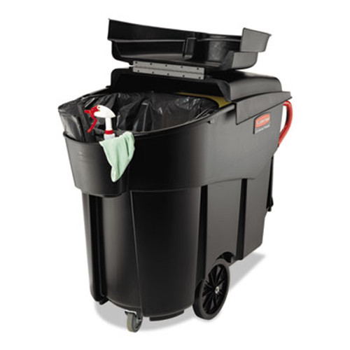 Rubbermaid Commercial Mega Brute Mobile Container, Rectangular, Plastic, 120 gal, Black (RCP 9W73 BLA)