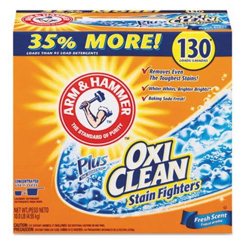 Arm & Hammer Power of OxiClean Powder Detergent  Fresh  9 92lb Box  3 Carton (CDC 33200-06510)