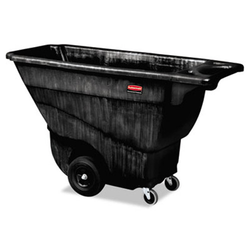 Rubbermaid Commercial Structural Foam Tilt Truck, Rectangular, 850 lb. Cap., Black (RCP 9T14 BLA)