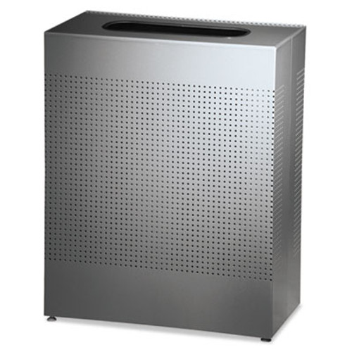 Rubbermaid Commercial Designer Line Silhouettes Receptacle  Square  Steel  40 gal  Silver (RCP SR18EPLSM)