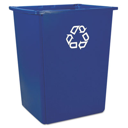 Rubbermaid Commercial Glutton Recycling Container  Rectangular  56 gal  Blue (RCP 256B-73 BLU)