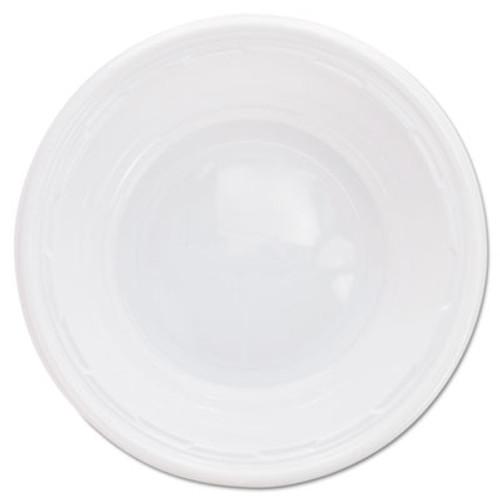 Dart Plastic Bowls, 5-6 Ounces, White, Round, 125/Pack (DCC 5BWWF)