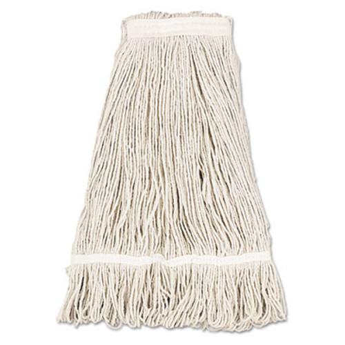 Boardwalk Mop Head  Pro Loop Web Tailband  Premium Standard Head  Cotton  32-Oz   White (UNS 432C)