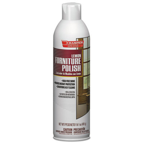 Chase Products Champion Sprayon Furniture Polish  Lemon  17oz  Aerosol  12 Carton (CHA 5136)