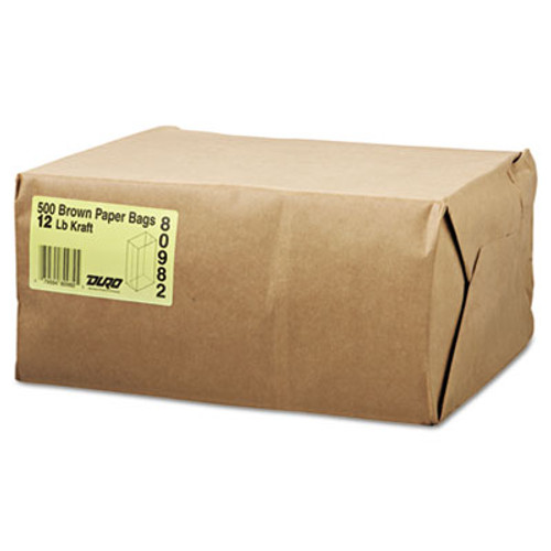 General Grocery Paper Bags  12 lbs Capacity   12  7 06 w x 4 5 d x 12 75 h  Kraft  1 000 Bags (BAG GK12)