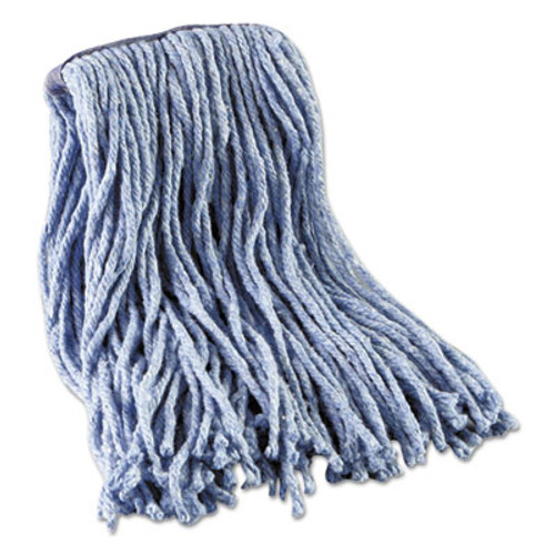 Boardwalk Mop Head, Standard Head, Cotton/Synthetic Fiber, Cut-End, 12-Oz., Blue (UNS 2016B)