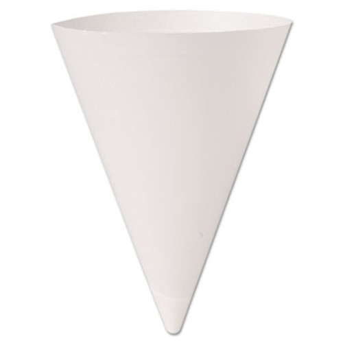 Dart Bare Treated Paper Cone Water Cups  7 oz   White  250 Bag  20 Bags Carton (SCC 156BB)