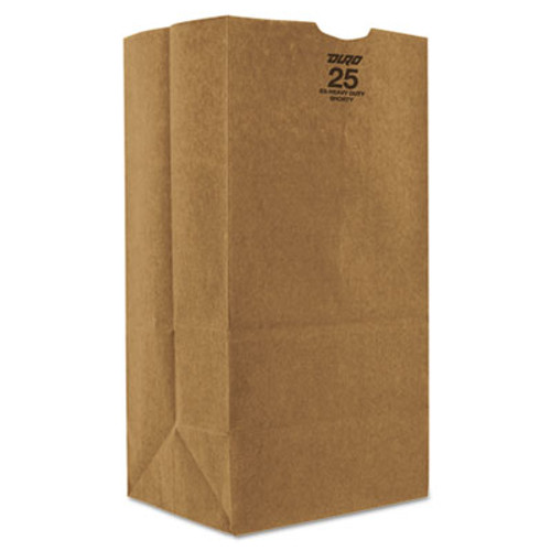 General Grocery Paper Bags  57 lbs Capacity   25  8 25 w x 6 13 d x 15 88 h  Kraft  500 Bags (BAG GX2560S)