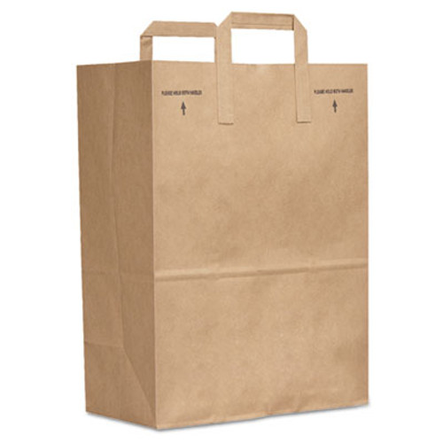 General Grocery Paper Bags  40 lbs Capacity  1 6 40 40   12 w x 7 d x 17 h  Kraft  400 Bags (BAG SK1/64040)