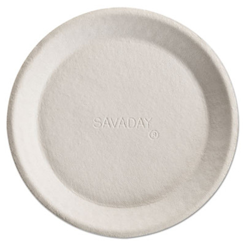 Chinet Savaday Molded Fiber Plates  10   Cream  Round  500 Carton (HUH ACORN)