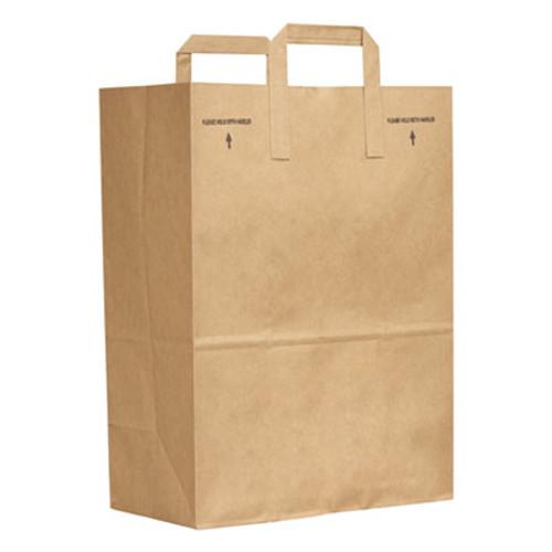 General Grocery Paper Bags  70 lbs Capacity  1 6 BBL  12 w x 7 d x 17 h  Kraft  300 Bags (BAG SK1670EZ-300)