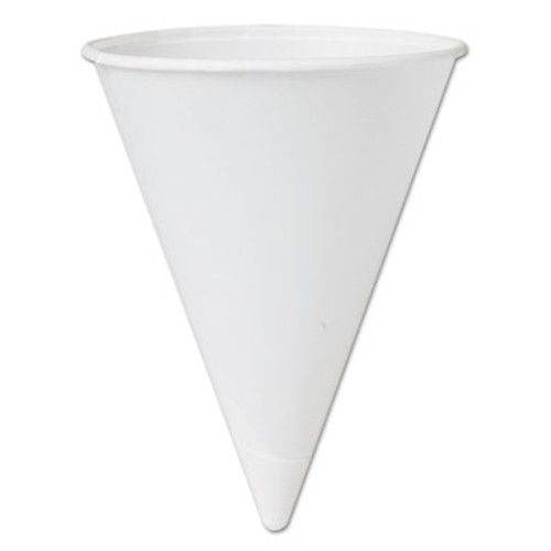 SOLO Cup Company Bare Treated Paper Cone Water Cups, 4 1/4 oz., White, 200/Bag (SCC 42BR)