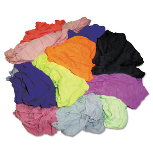 HOSPECO New Colored Knit Polo T-Shirt Rags  Assorted Colors  10 Pounds Bag (HOS 245-10)