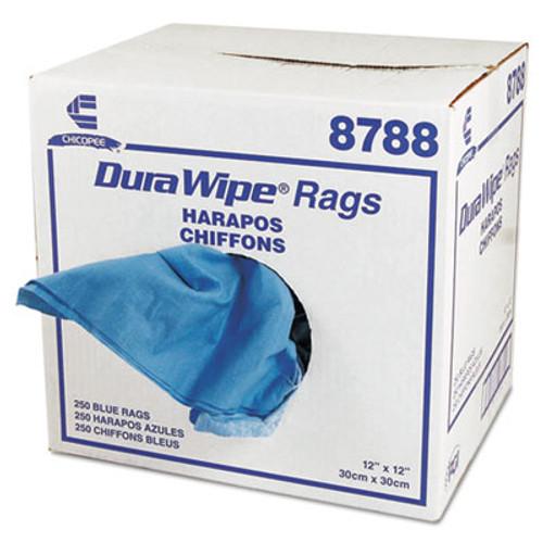 Chix DuraWipe General Purpose Towels  12 x 12  Blue  250 Carton (CHI 8788)