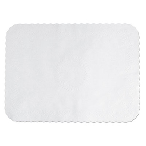 Hoffmaster Anniversary Embossed Scalloped Edge Tray Mat  14 x 19  White  1 000 Carton (HFM TC8704472)