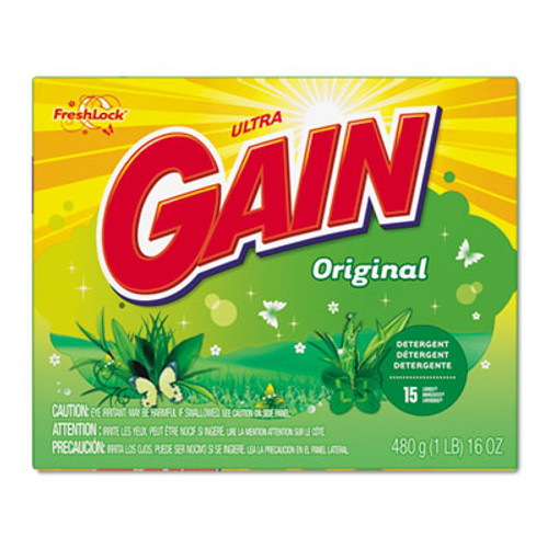 Gain Original Scent Powder Laundry Detergent, 16 oz/Box, 15/Carton (PGC 27831)