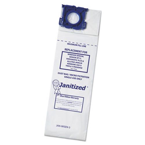 Janitized Vacuum Filter Bags Designed to Fit Windsor Sensor S S2 XP Versamatic Plus  100CT (APCJANWISEN3)