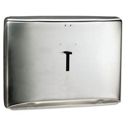 Scott Personal Seat Toilet Seat Cover Dispenser  Stainless Steel  16 6 x 12 3 x 2 5 (KCC 09512)