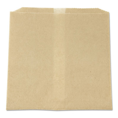 Rubbermaid Commercial Waxed Napkin Receptacle Liners, 7-3/4 x 10-1/2 x 8-1/2, Brown, 500/Case (HOS 6802W)