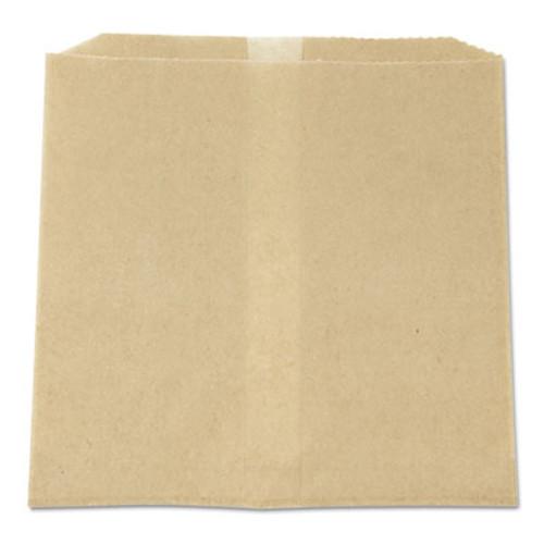 HOSPECO Waxed Napkin Receptacle Liners  8 5  x 8   Brown  500 Carton (HOS 6802W)