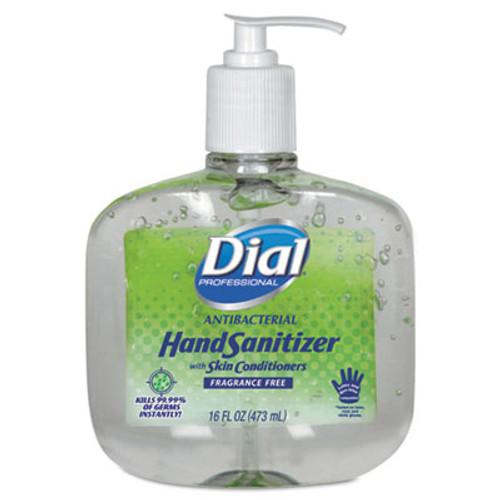 Dial Professional Antibacterial Gel Hand Sanitizer w Moisturizers  16oz Pump  Fragrance-Free  8 Ct (DIA 00213)