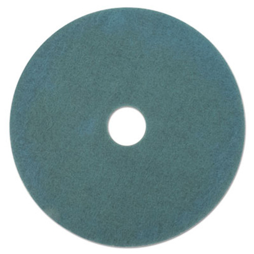 3M Ultra High-Speed Floor Burnishing Pads 3100  27  Diameter  Aqua  5 Carton (MCO 20264)