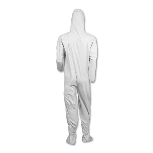 KleenGuard A40 Elastic-Cuff  Ankle  Hood   Boot Coveralls  White  3X-Large  25 Carton (KCC 44336)