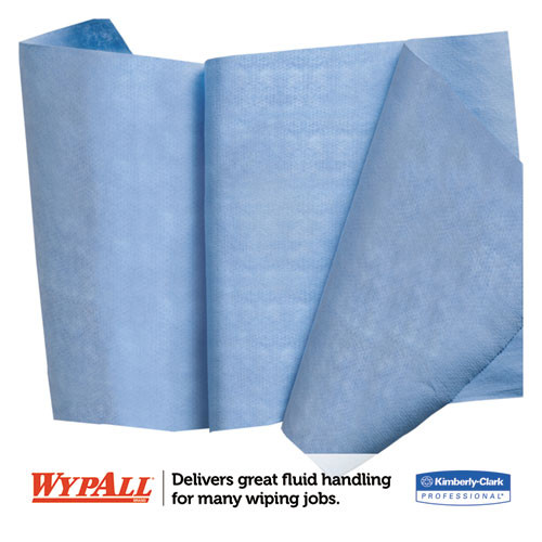 WypAll X90 Cloths  Jumbo Roll  11 1 10 x 13 2 5  Denim Blue  450 Roll  1 Roll Carton (KCC 12889)