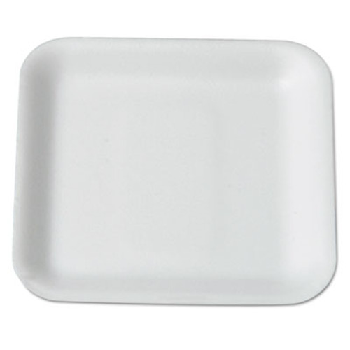 Genpak Supermarket Tray, Foam, White, 5-1/4 x 5-1/4, 125/Bag (GNP 1SWH)