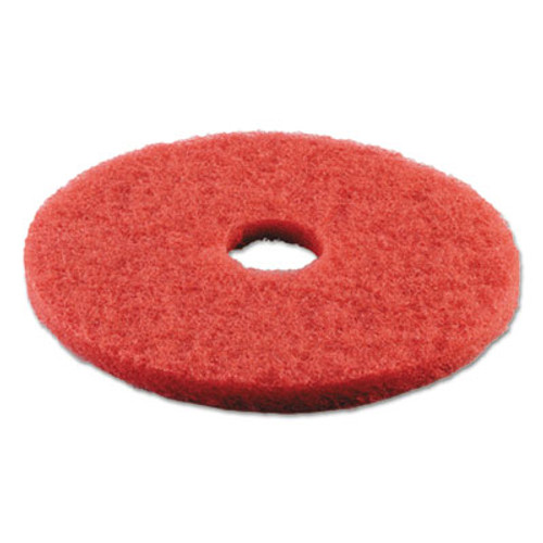 Boardwalk Buffing Floor Pads  18  Diameter  Red  5 Carton (PAD 4018 RED)
