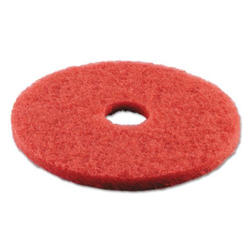 Boardwalk Buffing Floor Pads  18  Diameter  Red  5 Carton (PAD 4018 RED)