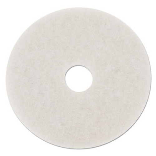 Boardwalk Polishing Floor Pads  18  Diameter  White  5 Carton (PAD 4018 WHI)