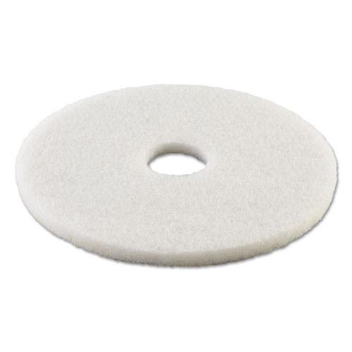 Boardwalk Polishing Floor Pads  18  Diameter  White  5 Carton (PAD 4018 WHI)